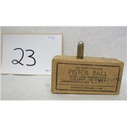 .45 ACP MILITARY AMMO AND BOX