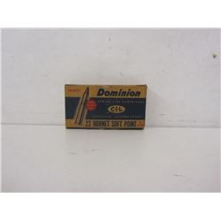 22 HORNET SOFT POINT IN C-I-L DOMINION BOX 12 RNDS