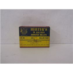 HERTER'S 308 JACKETED 125GR HOLLOW POINT BULLETS