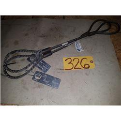 Set of Steel Sling 3/8'' 2800lbs 2''