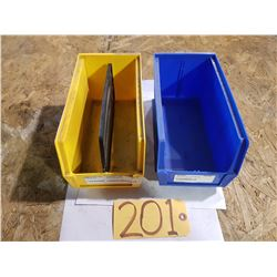 "Plastic Bin 5""1/2 x 11"" for 50 Yellow (some bleu left)"