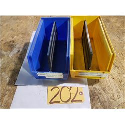 "Plastic Bin 5""1/2 x 11"" for 100 Yellow (some blue left)"