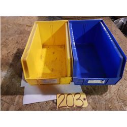 "Plastic Bin 8"" x 14"" for 10 Yellow (some blue left)"