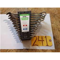 22pc. Combination Wrench Set
