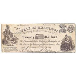 1862 $20 State of Missouri Obsolete Bank note