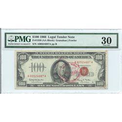1966 $ 100 Legal Tender Note PMG Very Fine 30