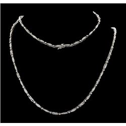 5.00 ctw Diamond Necklace - 14KT White Gold