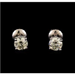 14KT White Gold 1.21 ctw Diamond Solitaire Earrings