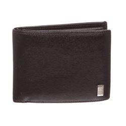 Dunhill Black Leather Bi Fold Wallet