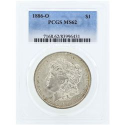1886-O $1 Morgan Silver Dollar Coin PCGS MS62