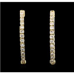 1.02 ctw Diamond Earrings - 14KT Yellow Gold