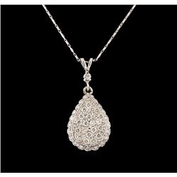 14KT White Gold 0.77 ctw Diamond Pendant With Chain