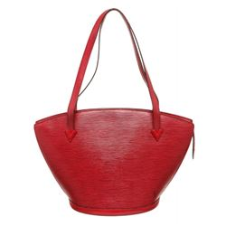 Louis Vuitton Red Epi Leather St Jacques GM Shoulder Bag