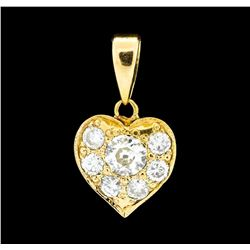0.94 ctw Diamond Pendant - 18KT Yellow Gold