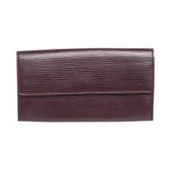 Louis Vuitton Purple Epi Leather Sarah Long Wallet