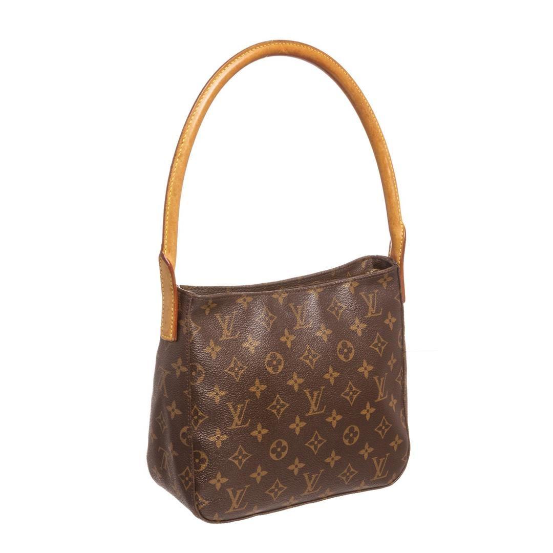ed4eef5492fb ... Image 3   Louis Vuitton Monogram Canvas Leather Looping PM Shoulder Bag  ...