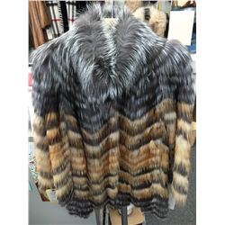 Silver and Red Fox layered coat