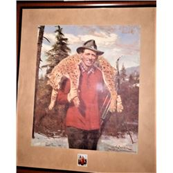 Fred Bear Print, Autographed and Framed