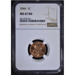 1944 LINCOLN CENT NGC MS67RD