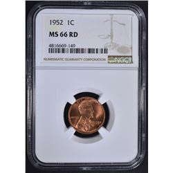 1952 LINCOLN CENT NGC MS66RD