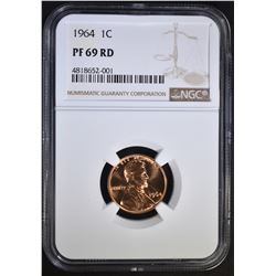 1964 LINCOLN CENT NGC PF69RD