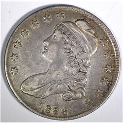 1836 CAPPED BUST HALF DOLLAR, XF/AU