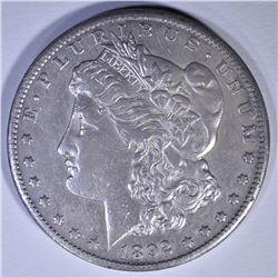 1892-CC MORGAN DOLLAR XF/AU