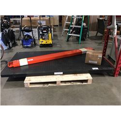 10 TON PLATFORM SCALE C/W WEIGHING INDICATOR AND BOX OF ACCESSORIES