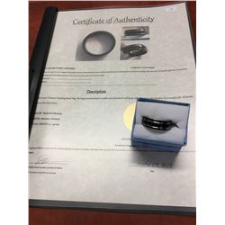 CERTIFIED MANS TITANIUM BAND RING, 5.1 GRAMS, 8MM WIDE, SMOOTH COMFORT FIT,