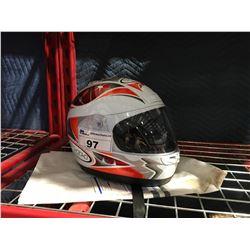 THH FULL FACE MOTOR CYCLE HELMET WITH VISOR