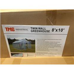 TWIN WALL 8' X 10' GREENHOUSE (2 BOX SET)