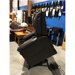 BROWN LEATHER LIFT ASSIST POWER RECLINER