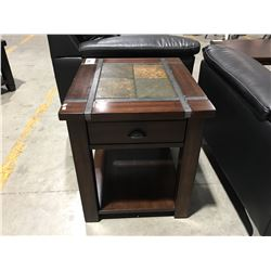 CONTEMPORARY SINGLE DRAWER END TABLE