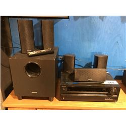 ONKYO HOME STEREO SYSTEM - RECEIVER WITH REMOTE & 6 SPEAKERS