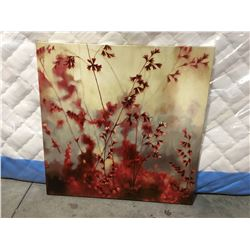 """FLORAL OIL ON CANVAS TRANSFER PRINT (38"""" X 38"""")"""