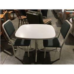 3PCS. WHITE DINETTE SET - TABLE & 2 CHAIRS
