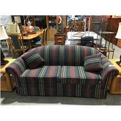 MULTI COLOURED UPHOLSTERED SOFA BED