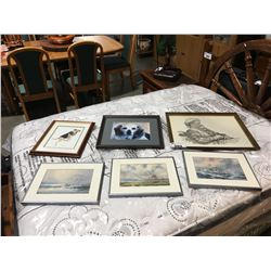 GROUP OF 6 ASSORTED FRAMED PRINTS & PICTURES
