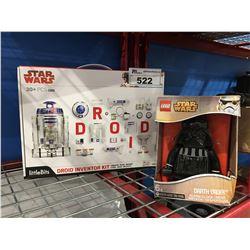 2 STAR WARS TOYS LEGO DARTH VADER & DROID INVENTOR KIT