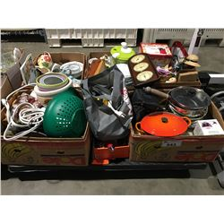 PALLET LOT OF ASSORTED HOUSE HOLD ITEMS, DISHWARES, DECORATIVE ITEMS ETC.