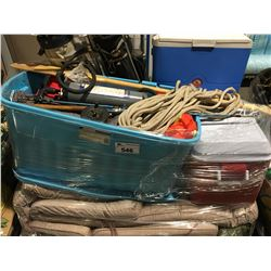 PALLET LOT OF OUTDOOR CAMPING & SPORTING GOODS