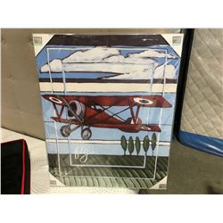 "MARY JACK STUDIOS OIL ON CANVAS TRANSFER PRINT ""THE FLY"" NURSERY ROOM ARTWORK (30"" X 24"")"