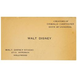 Walt Disney Business Card.