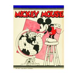 Salesman's Sample for Mickey Mouse Writing Tablets.