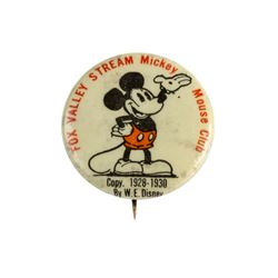 "Fox Valley Stream ""Mickey Mouse Club"" Button."