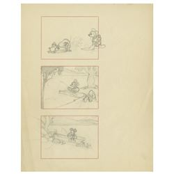 "Pair of Storyboards from ""Fishin' Around""."