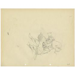 "Original Production Drawing from ""King Neptune""."
