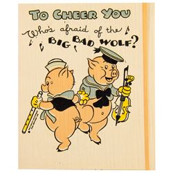 "Hall Brothers ""Three Little Pigs"" Get Well Card."
