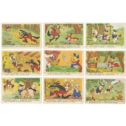 "Collection of (9) ""Three Little Pigs"" Postcards."