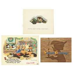 1930s Walt Disney Studio Christmas Cards.